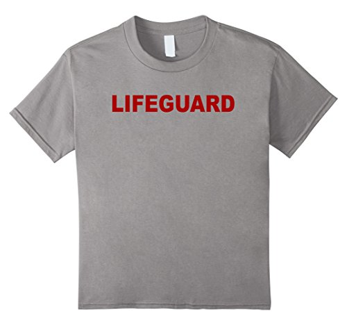 Kids Lifeguard - Beach Tshirt 6 Slate