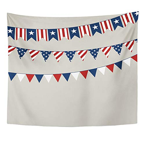 - Emvency Tapestry Wall Hanging Polyester Fabric Flag of Independence Day American Americana Home Decor for Living Room Bedroom Dorm 50x60 Inches