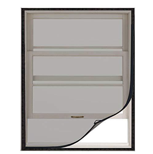 MAGZO Replacement Window Screens-Mesh Screen for Window DIY Adjustable Window Fiberglass Mesh Net with Sticky Hook & Loop (DIY Screen UP to 39 x 47 Max)