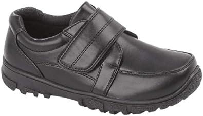 Boys Black School Shoes Trainer Style