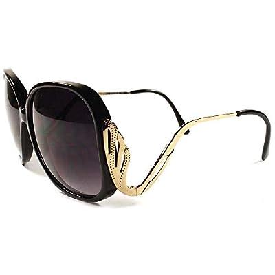 Designer Stylish Fancy Vintage Retro Wing Oversized Womens Sunglasses