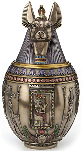 Rare Egyptian Anubis Dog Memorial Urn Canopic - Urn Pet