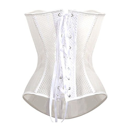 Spiral per Steel perizoma scegliere con Hollow Sexy nero 6 Ms il dimensioni Lace Hlgo Bustier bianco Corset tw1HOqx