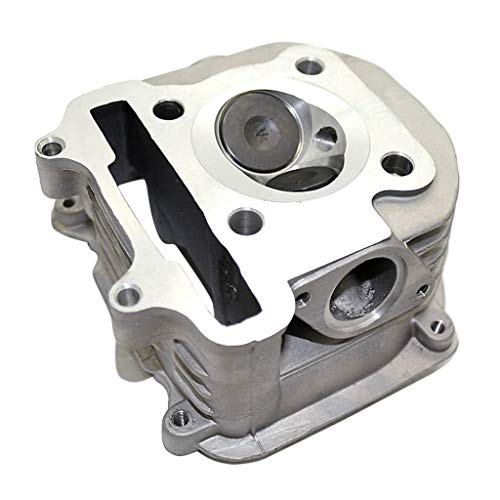nouler Juler OEM Silver Motorcycle Cylinder Head Kit for 150Cc Gy6 China Off-Road Vehicle ATV Scooter -