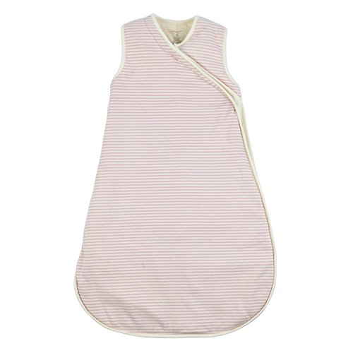 DorDor & GorGor G.O.T.S. Organic Cotton Unisex Baby Napsack Sleepwear, All Natural Dye-Free (24M, Pink Stripe) (Infant Blanket Dye)