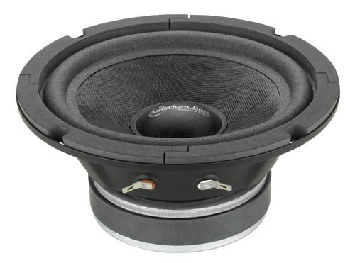 American Bass 6.5 (SQ65CBX) closed back midrange speaker with grill by American Bass
