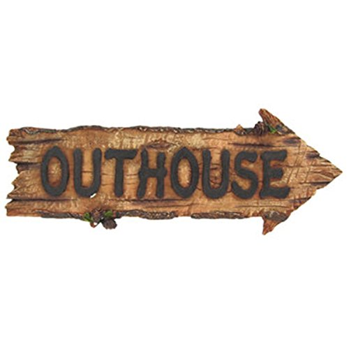 (OUTHOUSE Plaque Sign Cabin Garage Barn Bar -Great Father's Day Gift- MAN CAVE)
