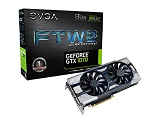 EVGA GeForce GTX 1070 FTW2 Gaming, 8GB GDDR5, iCX Technology - 9 Thermal Sensors & RGB LED G/P/M, Asynch Fan, Optimized Airflow Design Graphics Card 08G-P4-6676-KR (B06X3RBJLW) | Amazon price tracker / tracking, Amazon price history charts, Amazon price watches, Amazon price drop alerts