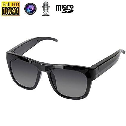 Gafas espía Mini cámara micrófono fotos 5 MP 1080P Micro SD
