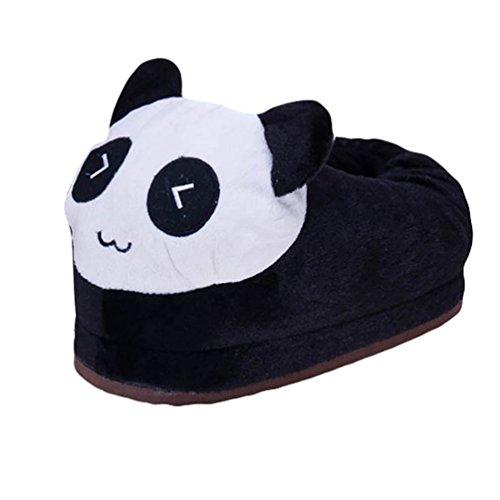 YOUJIA Zapatillas de casa Invierno Animales Zapatos de Divertidas Antideslizante para Niños y Adulto Panda