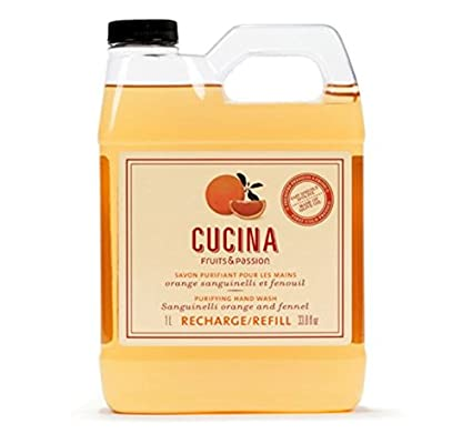 Cucina Concentrated Dish Detergent refill Coriander and Olive Tree Concentrated Dish Detergent refill (Green Tea) fruits & passion