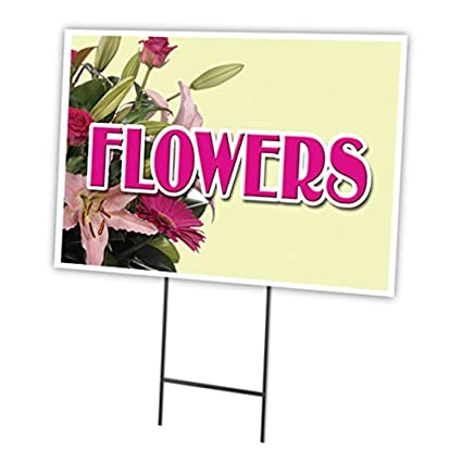 FLORIST 18x24 Yard Sign & Stake outdoor plastic coroplast window Business Signs