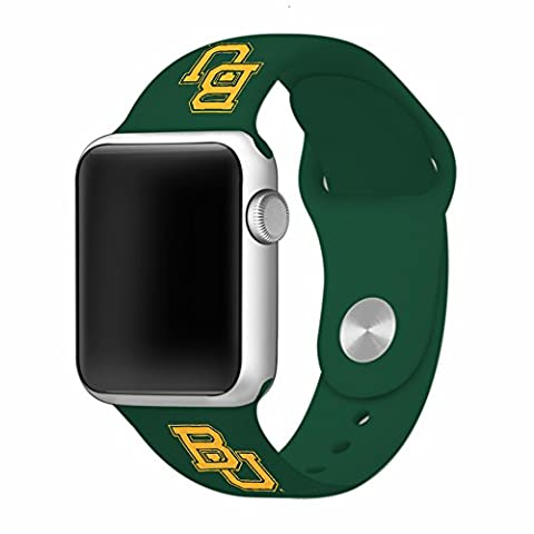 WATCH BAND ONLY - Baylor University Bears Silicone Sport Band fits on Apple Watch (38mm Green) (Baylor Watches)