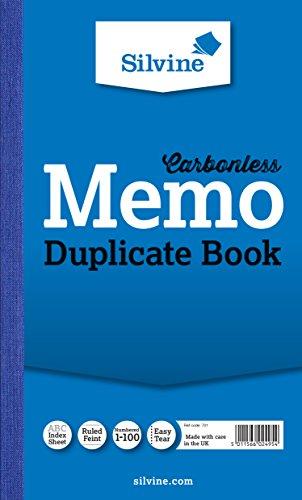 [F.R.E.E] Silvine Carbonless Memo Duplicate Book KINDLE
