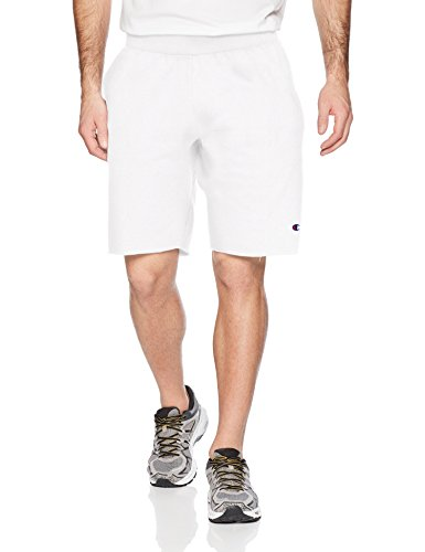 Champion LIFE Men's Reverse Weave Cut Off Shorts, White, XL