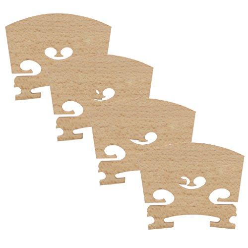 MagiDeal 4 Pieces Durable Replacement Maple 1/2 Violin Bridge Musical Instrument Accessory