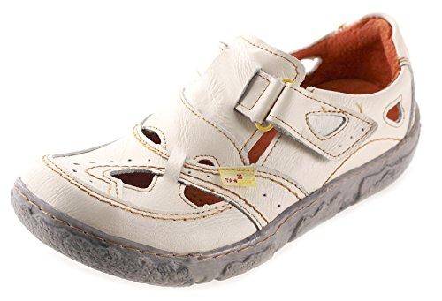 TMA Leder Damenschuhe Sommer Halbschuhe Sandalen 7008 Weiß