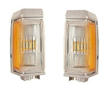 Driver and Passenger Park Signal Marker Light Lamp Replacement for Nissan B6115-60G00 B6110-60G00