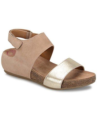 Comfortiva Womens 8335323 Open Toe Casual Slide, Barley/Satin Gold, Size 7.0