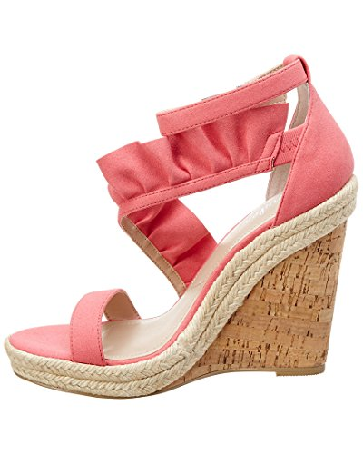 Women's Microsuede Wedge Sandal Brooke Coral by Charles David Charles OnWFUgU