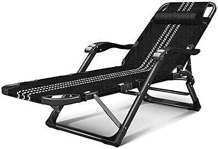 ADHW Reclinable, sillas reclinables Exterior, jardín al Aire Libre Mecedora Silla de Descanso, la Gravedad Cero Silla de Playa, Cubierta Plegable reclinable: Amazon.es: Hogar