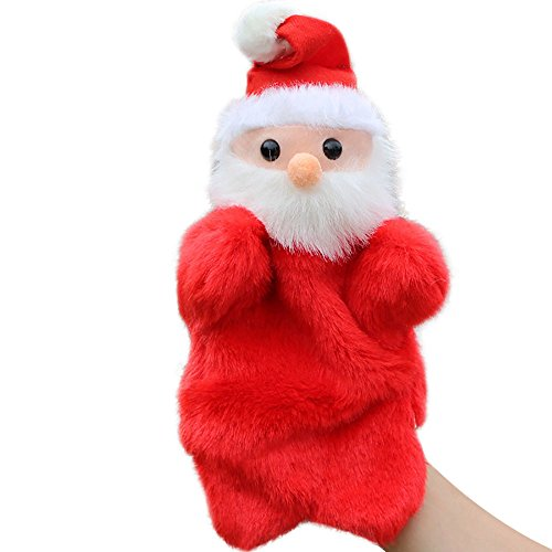 Miss.AJ 27CM cute Santa Claus Stuffed Dolls Storytelling Finger Even Hand Puppet toys For Baby's Gifts dropshipping suppliers Plush toy