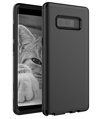 SKYLMW Case for Galaxy Note 8, SKYLMW Three Layer Heavy Duty High Impact Resistant Hybrid Protective Cover Case for Samsung Galaxy Note 8 Black
