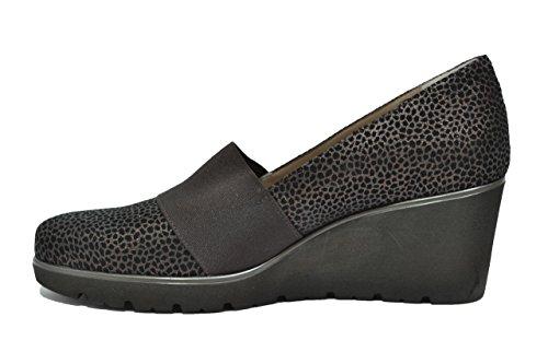 Melluso Decolletè zeppa moro scarpe donna R45001 T.MORO