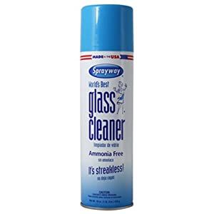 Sprayway Glass Cleaner Aerosol Spray, 19 oz