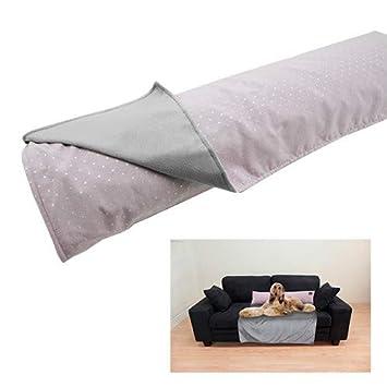 Yagu Manta Cubre Sofa con COJIN Topos Rosa (T-1 104 X 64 CM ...