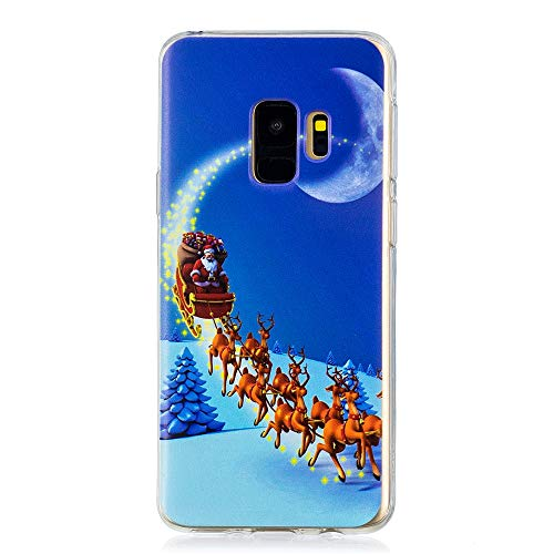 AICEDA Samsung Galaxy S9 Case, [Protector ] [ Protector ] [ Surface ] Protective Bumper Case Cover Shell Holster, Star Christmas (Ri Star Pocket)