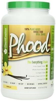 PlantFusion, Phood, 100% Plant-Based Whole Food Meal Shake, Vanilla, 31.8 oz (900 g)