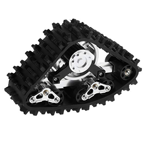 Fenteer 1/10 RC Truck Buggy Track Snow Tire Wheel Spare Parts for Axial SCX10 Hobby