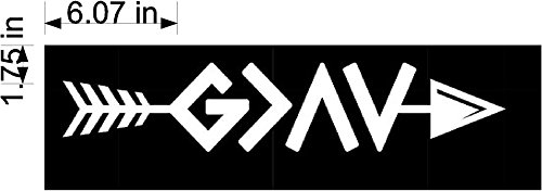 Sticker Rite Here God is Greater Than Highs and Lows Ups Downs Arrow White Vinyl Car/Laptop/Window/Wall Decal]()