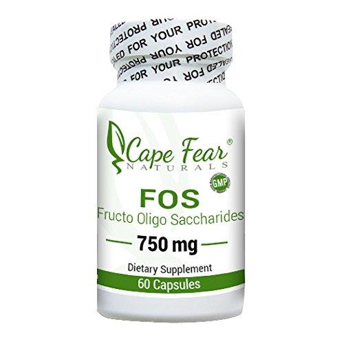 Cape Fear Naturals FOS (Fructo Oligo Saccharides), 750mg, 60 capsules