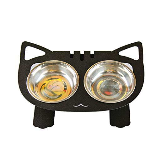 NYJ Cuenco Elevado para Gatos, comedero para Mascotas, Elevado para los Gatos y Perros pequeños (Color : Negro): Amazon.es: Productos para mascotas