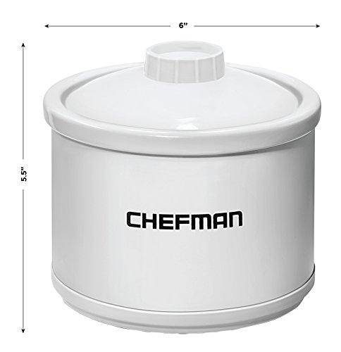 Chefman Mini Dipper Fondue Maker Food Warmer Extra Small, 21 oz White by Chefman (Image #2)