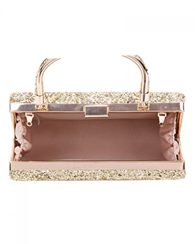 Body Bag Cross Handbag Purse Wedding Bags Clutch s Evening Women's Purser Rose Gold Wedding LeahWard Top wxIqEngXER