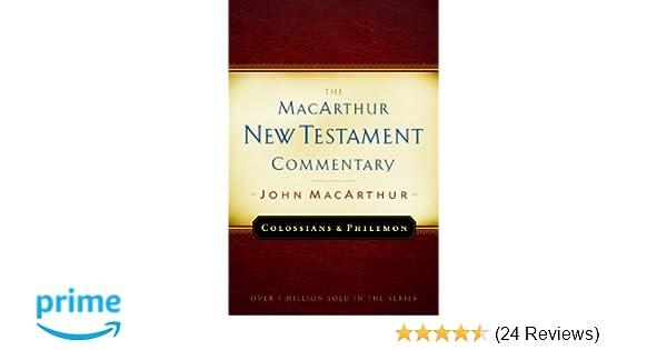 Colossians and philemon macarthur new testament commentary colossians and philemon macarthur new testament commentary macarthur new testament commentary series john f macarthur jr 9780802407610 amazon fandeluxe Gallery