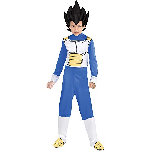 Dragonball Z Costume (Party City Dragon Ball Super Vegeta Costume for Children, Size Medium, Includes Jumpsuit, Headpiece, and Boot)