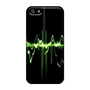 Hot Design Premium AYzlGHf131kkwUK Tpu Case Cover Iphone 5/5s Protection Case(green Pulse)