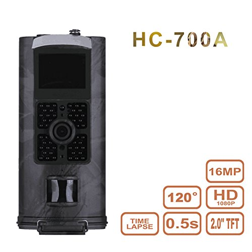 Color Pir Camera - HC-700A Hunting Trail Camera HD Infrared Night Vision Wildlife Camera Time Lapse 2.0