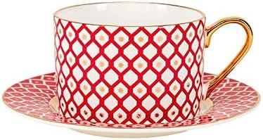 Amazon Com Imperial Lomonosov Porcelain Tea Cup And Saucer Set Scarlett Teacup For Tea Lover 8 5 Fl Oz 250 Ml Scarlett 1 Teacups