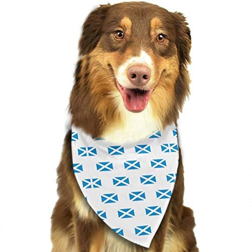 Scotland Flag Pattern Stylish Dog Bandana Bibs Scarfs Pet Scarfs Cats Dog Scarf