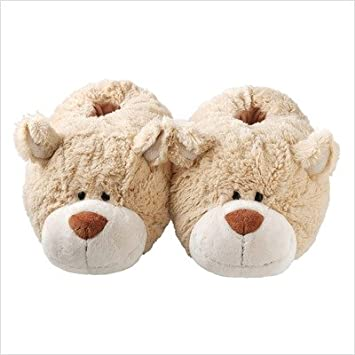 3994c815cc3 Image Unavailable. Image not available for. Color  Aroma Home SLP111027  Children s Fuzzy Friends Caramel Bear Slippers ...