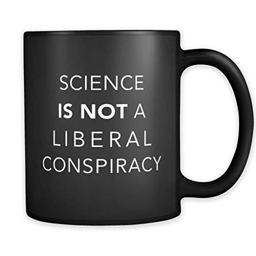 Mug Creatory - Liberal Conspiracy Mug, Science Gifts, Science Mugs, Liberal Mug, Liberal Gift, Global Warming Mug, Scientist Gift, Professor Mug, Coffee Mug 11oZ ()