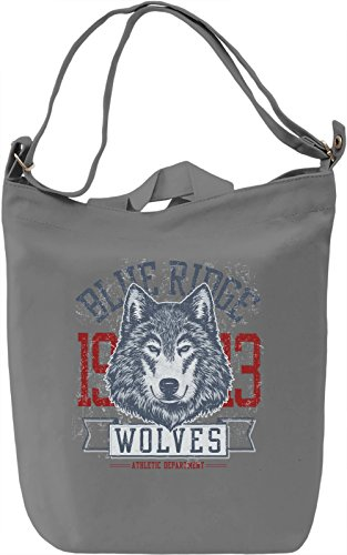 Wolves Borsa Giornaliera Canvas Canvas Day Bag  100% Premium Cotton Canvas  DTG Printing 