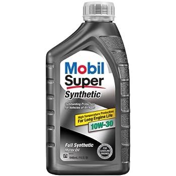 Mobil super 112917 10w 30 synthetic motor oil for 5w30 vs 10w30 motor oil
