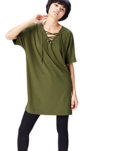 Khaki Front Verde Blusa FIND Lace Donna wAqSnTX