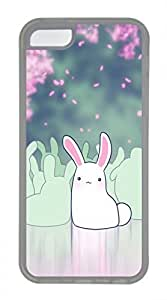 iPhone 5c case, Cute Bunny iPhone 5c Cover, iPhone 5c Cases, Soft Clear iPhone 5c Covers